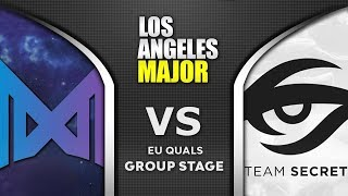 Nigma vs Secret ESL One Los Angeles Major 2020 EU Highlights Dota 2