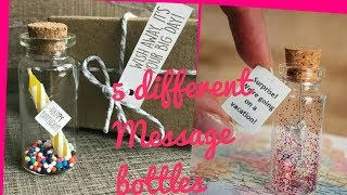 DIY Creative Gift Ideas/5 Different Ways To Give Message Bottle/Craft