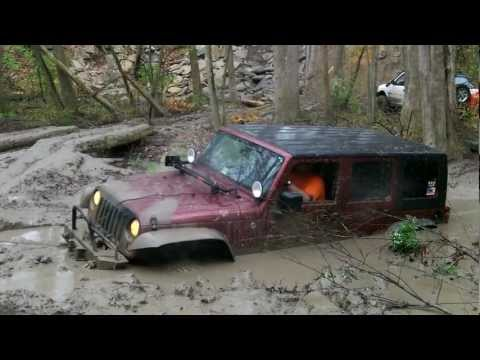 Jeep Wrangler Stuck Deep in the Mud