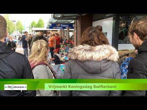 VIDEO | Tientallen verkopers vieren Koningsdag in Swifterbant op een matje op de vrijmarkt