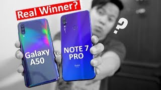 Redmi Note 7 Pro Vs Samsung Galaxy A50 full Comparison Winner is ? | Which one You Should Buy ??