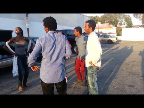 Street Eskista - Showing off Amazing Eskista Dance on the Street