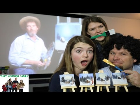 Miniature Bob Ross Painting Challenge / That YouTub3 Family