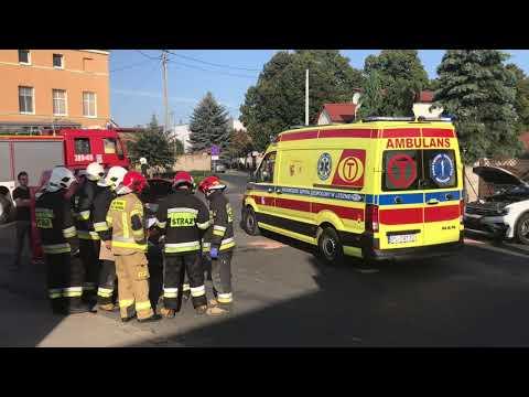 Wideo1: Wypadek w na skrzyżowaniu Wolności i Szkolnej w Święciechowie
