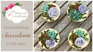 Sensational Summer Buttercream Succulents