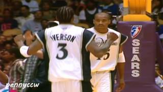 Allen Iverson RARE UNSEEN connections with Vince Carter *Must Watch!!!