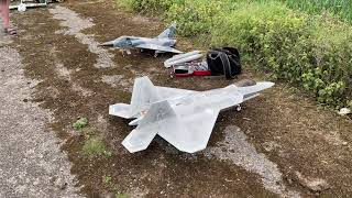 F22 Chased by FPV Drones