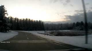 preview picture of video 'Madison NJ Snow Covered Trees Dashcam'