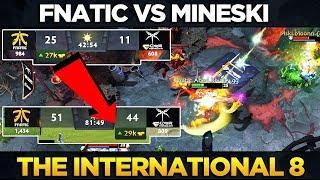 FNATIC vs MINESKI - MOST EPIC GAME OF THE DAY! - UNREAL COMEBACK - DOTA 2 #TI8