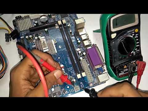 How to Repair desktop motherboard chip level repairing