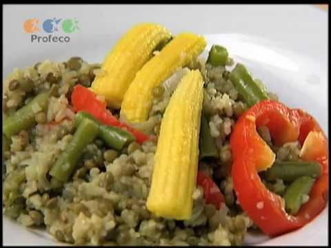Cazuela de lentejas con arroz [