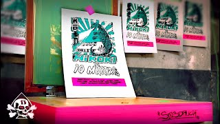 Design & Print: Silkscreen Table And Poster For 10 Makers! #10Makers #Laurakampf