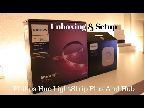 Philips Hue LightStrip Plus unboxing and setup (smartthings) Smart Home series #2