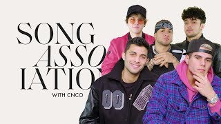 CNCO Sings Mamita, Camilo, and Billie Eilish in a Game of Song Association | ELLE