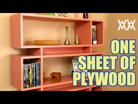 Build A Modern Bookcase Using A Single Sheet Of Plywood