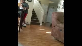 Ya Boy Rashad showing off his moves