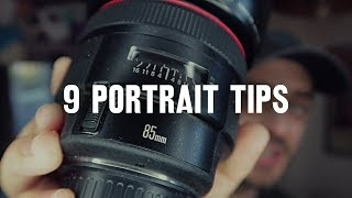 9 tips for BETTER PORTRAITS - Video Youtube