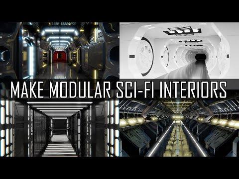 Make modular sci-fi interiors in Blender.