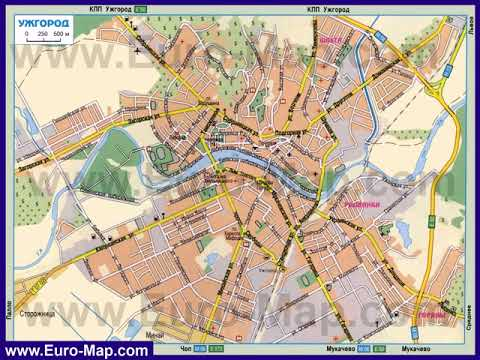 карты городов с достопримечательностями