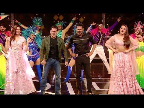 Salman khan Fun with Dabangg 3 Cast, Sonakshi sinha, Sai manjekar, Prabhu deva