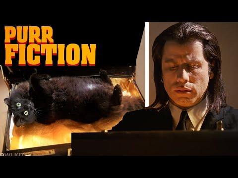 Πώς θα ήταν το Pulp Fiction αν ο Τραβόλτα είχε συμπρωταγωνίστρια... μία γάτα!