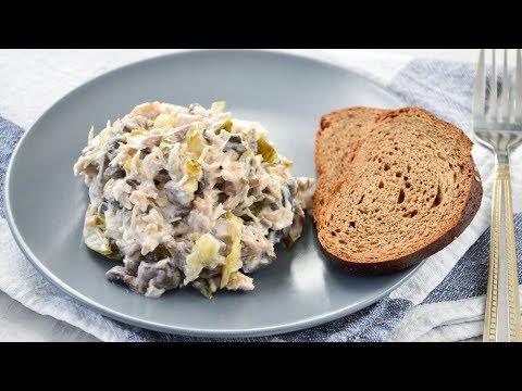 САЛАТ с курицей и грибами ☆ Сытный и ОЧЕНЬ вкусный