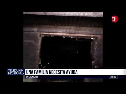 Familia perdió todo tras incendio