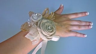 Burlap Wedding Corsages