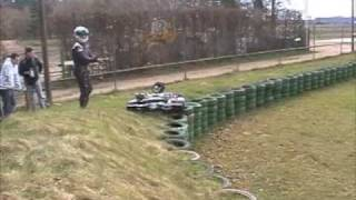 preview picture of video 'Kolbenklemmer beim SAKC Kartrennen in Walldorf'
