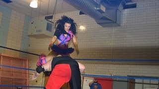The Tiniest Canadian Destroyer In The World - Absolute Intense Wrestling [Intergender Wrestling]