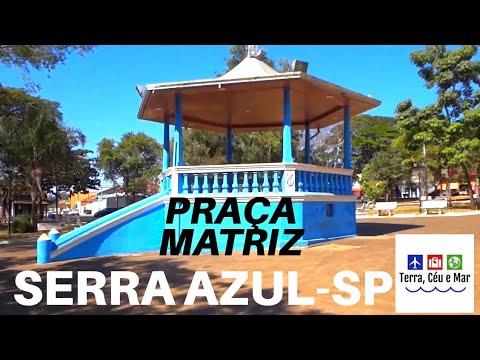 PRAÇA DA MATRIZ -  SERRA AZUL-SP 