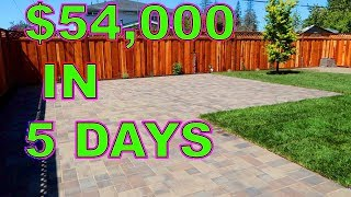 How We Completed A $54,000 Landscaping Job In 5 Days