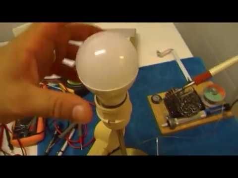 REPARACION DE EMERGENCIA, LAMPARA LED EN UN PAR DE MINUTOS, mas correcto usar una resistencia.