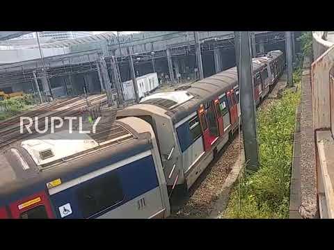 Hong Kong: Train derailment during morning rush hour injures 8