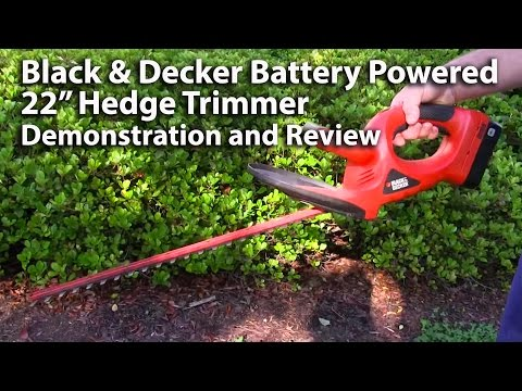 Black and Decker 22 Inch Electric Hedge Trimmer Review