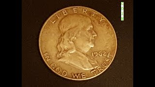 1962 Franklin Half Dollar Coin - Silver Content