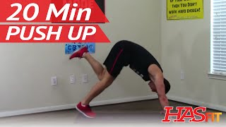 20 Min Push Up Workout Routine at Home - Pushup Workout - Pushups Exercises Training by HASfit