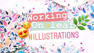 WATERCOLOR LEAVES • WATCH ME DRAW LEAVES • LEAF ILLUSTRATION • HOW TO DRAW WATERCOLOR LEAVES
