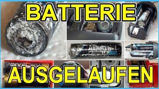 Batterie ausgelaufen - und immer wieder Ansmann ...