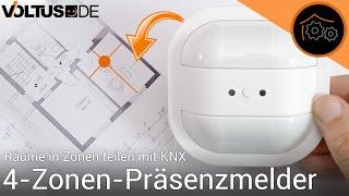 Präsenzmelder mit mehreren Zonen - wie gut klappt das? (KNX)   haus-automatisierung.com [4K]