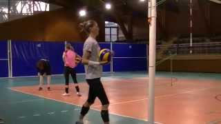 preview picture of video 'Volleyball Féminin DEF Team Toulon Training Physical Performs Live TV Sports 2015'