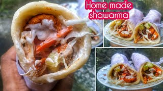 EASY SHAWARMA AT HOME 1 Minute Video   Shawarma Recipes #Shorts