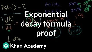 Exponential Decay Formula Proof (can skip, involves Calculus)