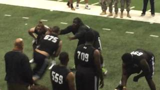 Watch 2019 LSU commit Kardell Thomas dominate reps at the Army National Combine