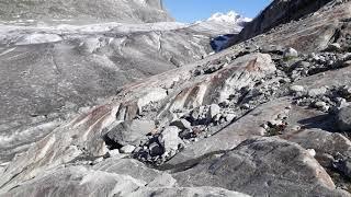 Kleiner Spaziergang auf dem Aletschgletscher