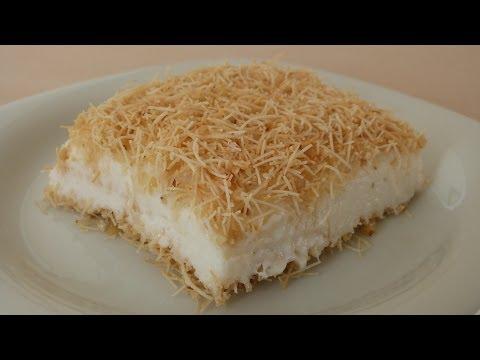 Kanafeh with Pudding Recipe | Turkish Dessert