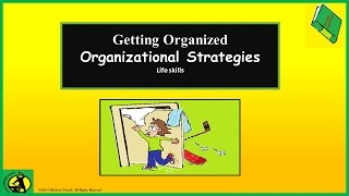 Organizational Strategies, Organization Tips, Lesson for Students, Organizational Skills