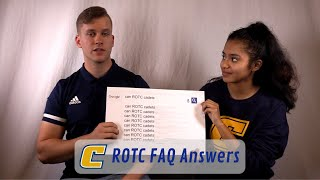 Army ROTC Cadets Answer the Web's Most Searched Questions (FAQ Video) | The UTC Army ROTC Experience