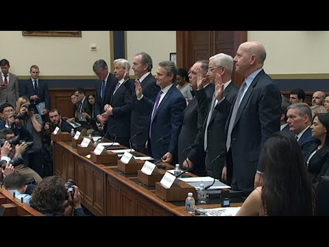 Seven CEOs of the largest banks in the U.S. appeared in front of Congress Wednesday, telling lawmakers they have raised capital, are more diverse, and are more resilient than they were before the financial crisis. (April 10)