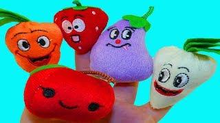 Учим фрукты для детей Учим овощи на русском Куклы на пальцах Развивающая песня Про фрукты Про овощи